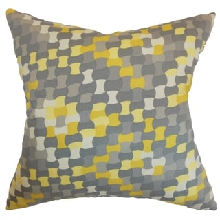 Gaya Geometric Down Filled Throw Pillow Canary