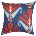 Sakon Ikat Down Filled Throw Pillow Blue Red
