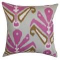 Sakon Ikat Pillow Down Filled Throw Purple Brown