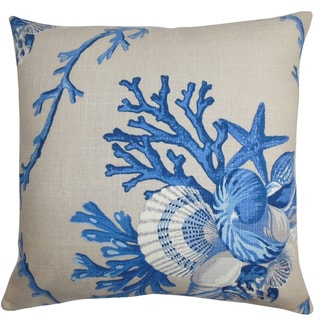Maj Coastal Down Filled Throw Pillow Natural Blue