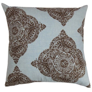 Daganya Damask Chambray Down Filled Throw Pillow