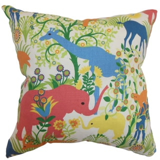 Caprivi Flora and Fauna Down Filled Throw Pillow Multi