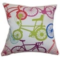 Echuca Bicycles Down Filled Throw Pillow Confetti