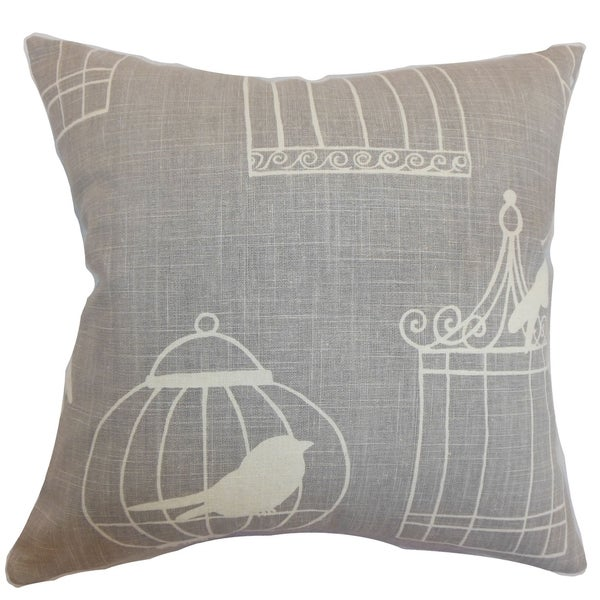 Alconbury Birds Smoke Down Filled Throw Pillow