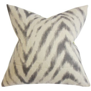 Quay Zigzag Down Fill Throw Pillow Gray