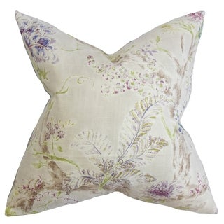 Satriya Floral Natural Down Filled Throw Pillow