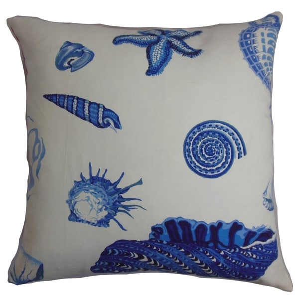 Rayen Coastal Natural Blue Down Filled Throw Pillow 12934207