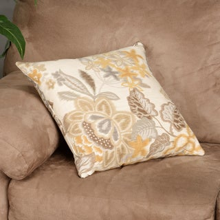 Unai Floral Down Fill Throw Pillow Yellow