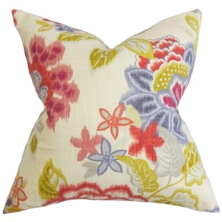 Vasant Floral Down Fill Throw Pillow Pink