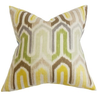 Wiley Geometric Down Fill Throw Pillow Yellow