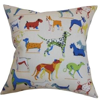 Wonan Dogs Print Multi Down Filled Throw Pillow