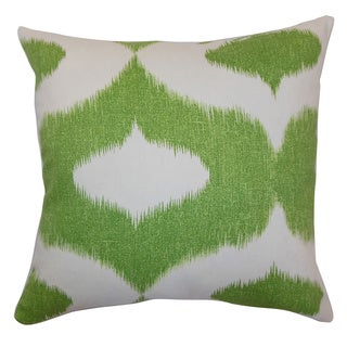 Leilani Green Ikat Down Filled Throw Pillow