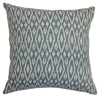 Hafoca Ikat Denim Down Filled Throw Pillow