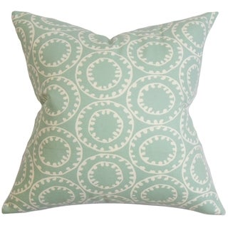 Yowanda Geometric Down Fill Throw Pillow Blue