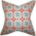 Warren Geometric Down Fill Throw Pillow Blue