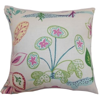 Unayzah Spring Time Floral Down Filled Throw Pillow