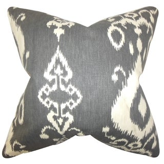 Katti Ikat Down Fill Throw Pillow Black
