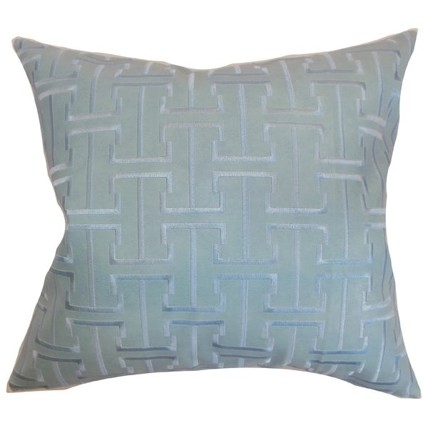 Quine Geometric Down Fill Throw Pillow Celestial