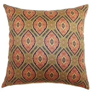 Heihe Midnight Paisley Down Filled Throw Pillow