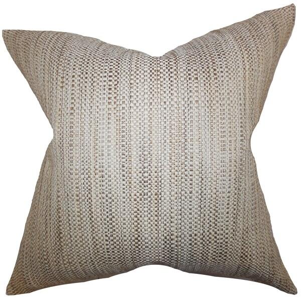 Zebulun Woven Down Fill Throw Pillow Neutral