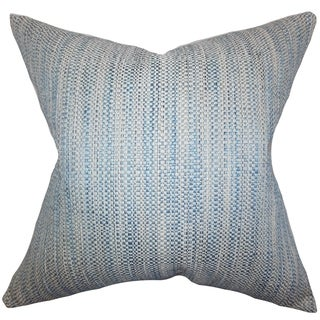 Zebulun Woven Down Fill Throw Pillow Blue