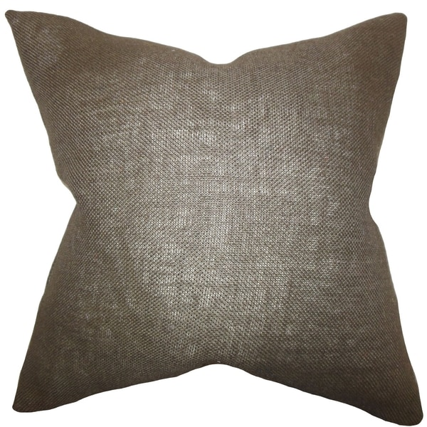 Ellery Brown Solid Down Filled Throw Pillow
