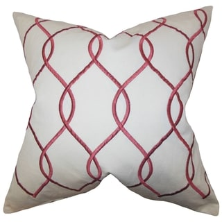 Jolo Ruby Geometric Down Filled Throw Pillow