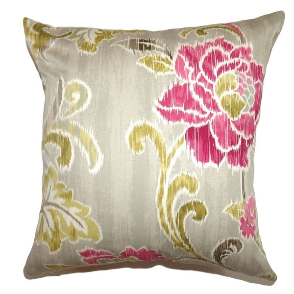 Jacobina Fuchsia Floral Down Filled Throw Pillow