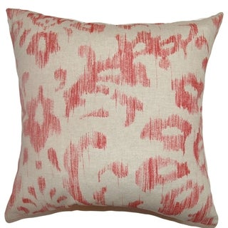 Ignace Red Ikat Down Filled Throw Pillow