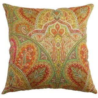 La Ceiba Citrus Paisley Down Filled Throw Pillow