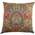 La Ceiba Gemstone Paisley Down Filled Throw Pillow