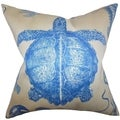 Aeliena Blue Coastal Down Filled Throw Pillow