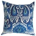Haestingas Ikat Down Fill Throw Pillow Navy Blue