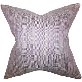 Zebulun Woven Down Fill Throw Pillow Purple