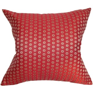 Radclyffe Dot Down Fill Throw Pillow Hot Pepper