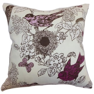 Ouvea Lilac Birds Down Filled Throw Pillow