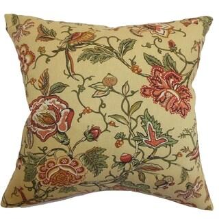 Rewa Vintage Floral Down Filled Throw Pillow