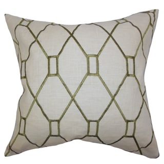 Nevaeh Geometric Down Fill Throw Pillow Green