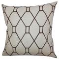 Nevaeh Geometric Down Fill Throw Pillow Brown