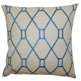 Nevaeh Geometric Down Fill Throw Pillow Blue