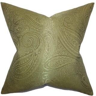 Cashel Paisley Down Fill Throw Pillow Green