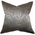 Cashel Paisley Down Fill Throw Pillow Gray