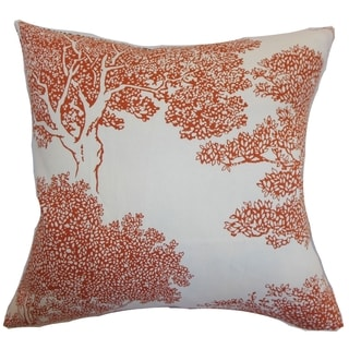Juara Persimmon Tree Down Filled Throw Pillow