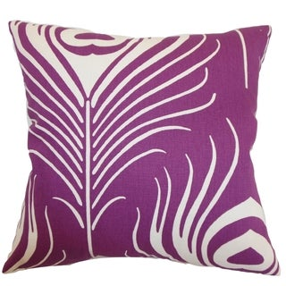 Lamassa Plum Peacock Down Filled Throw Pillow