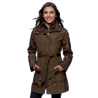 Jessica Simpson Women's Military Green Lightly Filled Rain Jacket (Large)