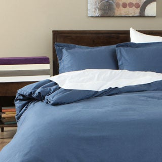 Cotton Flannel Solid 3-piece Duvet Cover Set