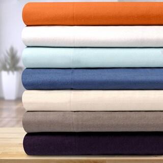 Superior Solid Cotton Flannel Duvet Cover Set