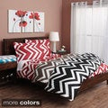 Chevron 300 Thread Count Cotton Duvet Cover Set