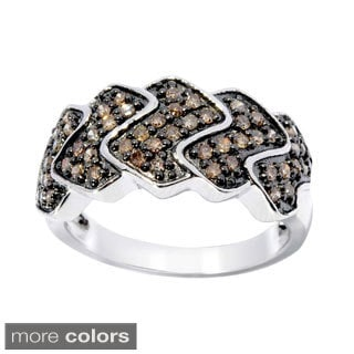Sterling Silver 1/2ct TDW Color Diamond Zig-zag Ring (I2-I3)