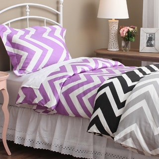 Chevron 300 Thread Count Cotton Sateen 3-piece Duvet Cover Set